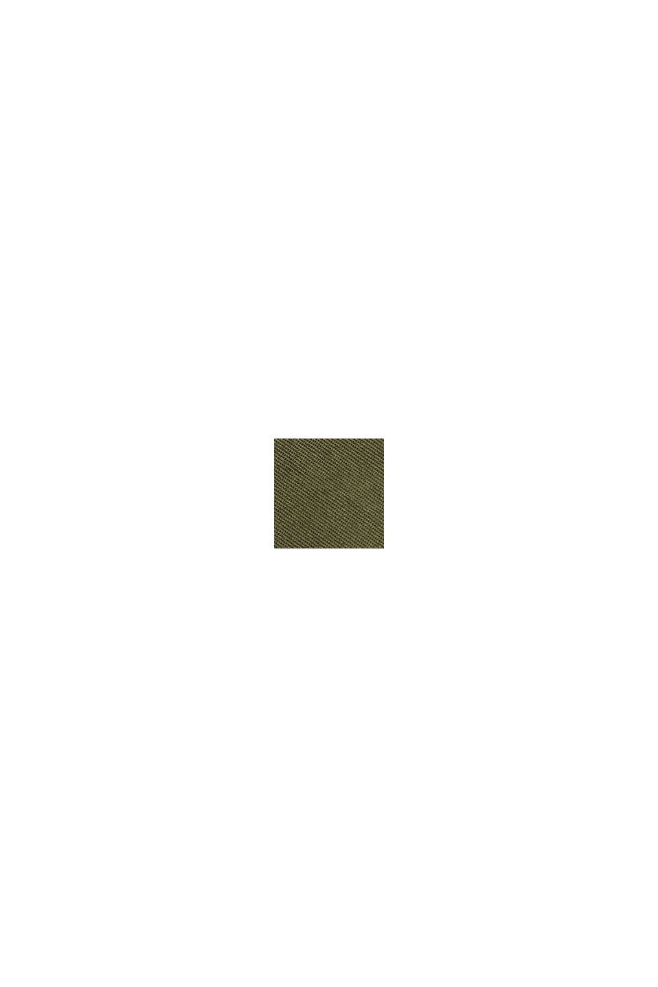 Minigonna PLAY in 100% cotone biologico, KHAKI GREEN, swatch