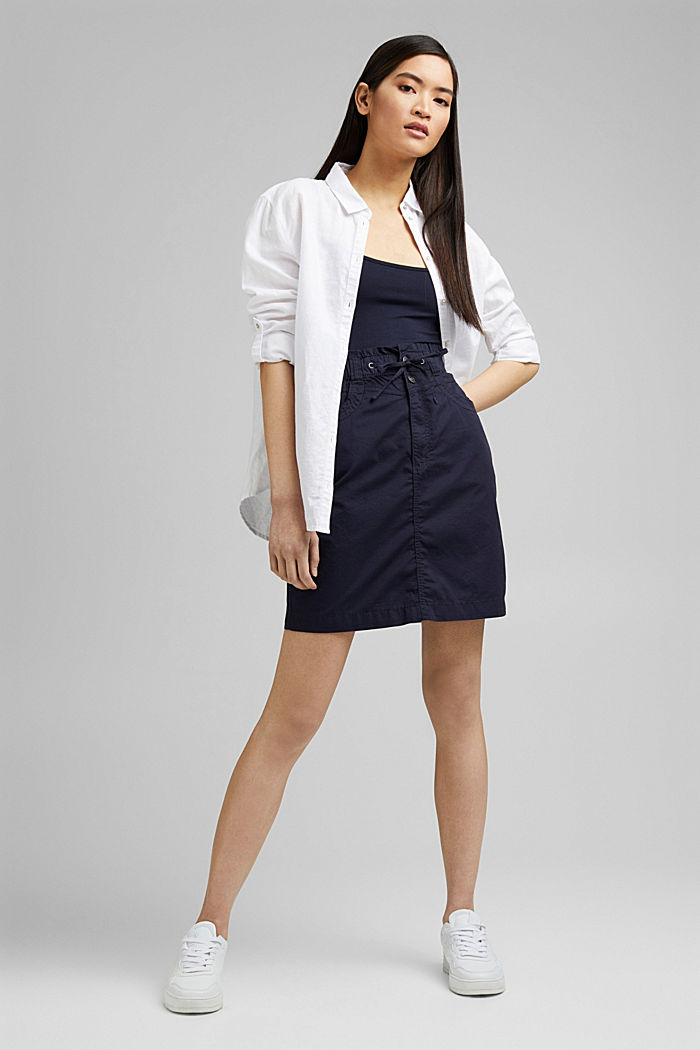 PLAY mini skirt made of 100% organic cotton, NAVY, detail image number 1