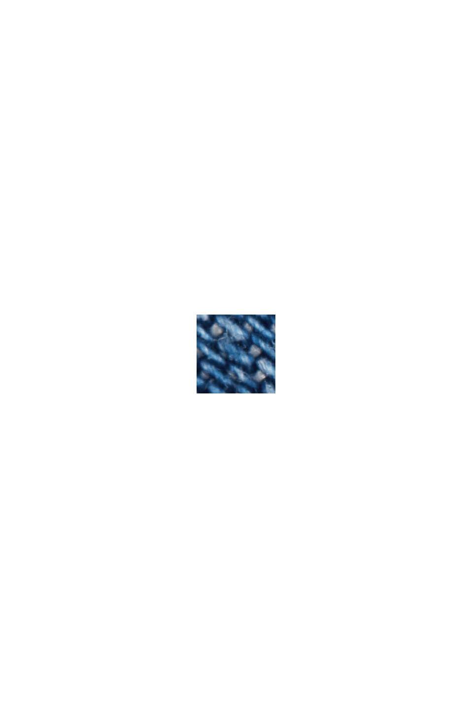Aus TENCEL™: Midirock in Denim-Optik, BLUE MEDIUM WASHED, swatch