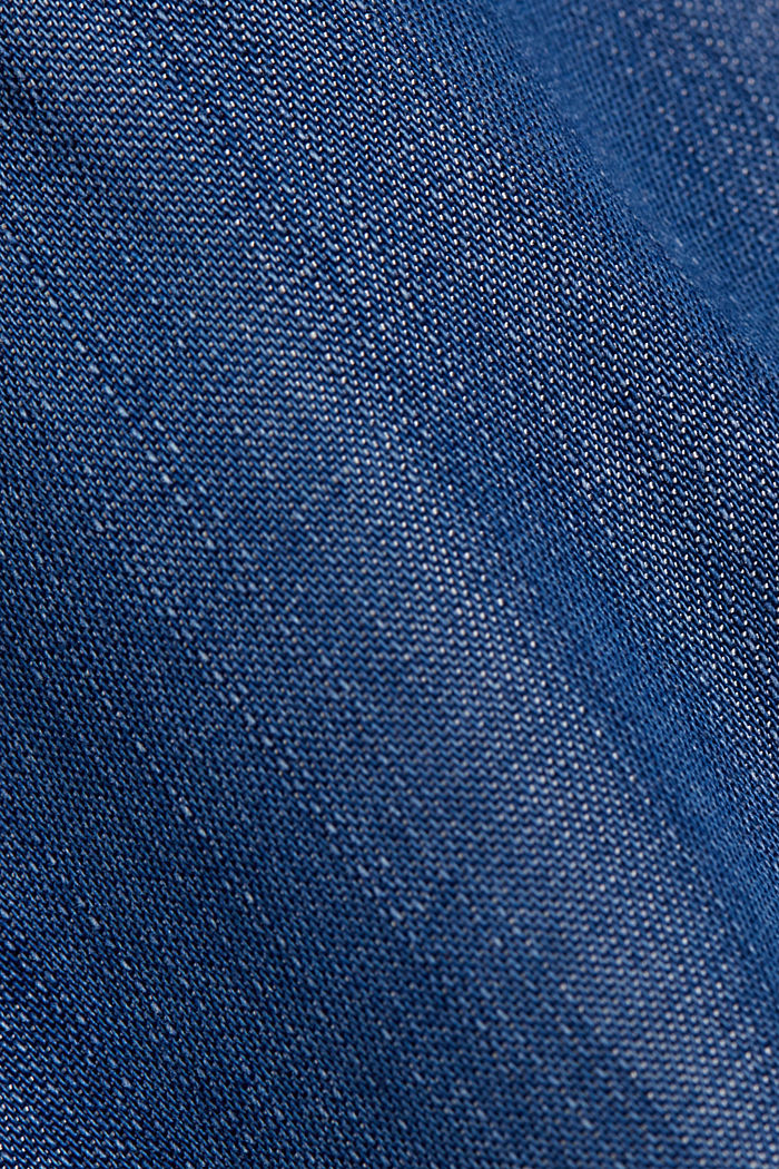 Made of TENCEL™: denim-effect skirt, BLUE MEDIUM WASHED, detail image number 4