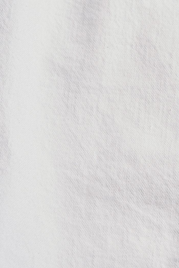 Falda vaquera en algodón ecológico, OFF WHITE, detail image number 4