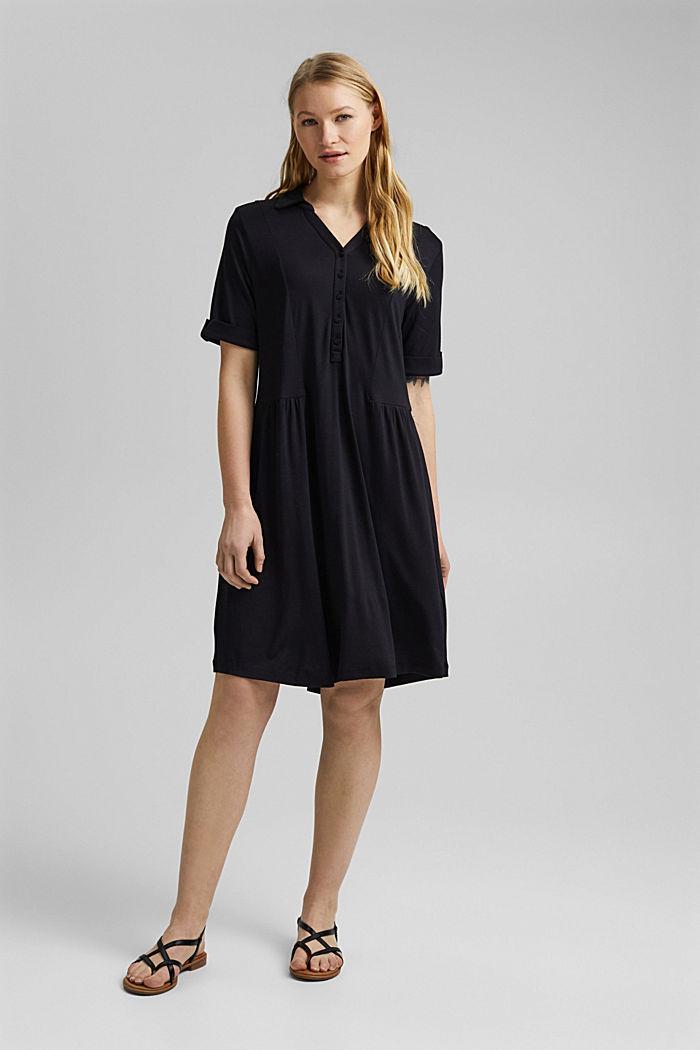 Jersey dress made of LENZING™ ECOVERO™, BLACK, detail image number 1