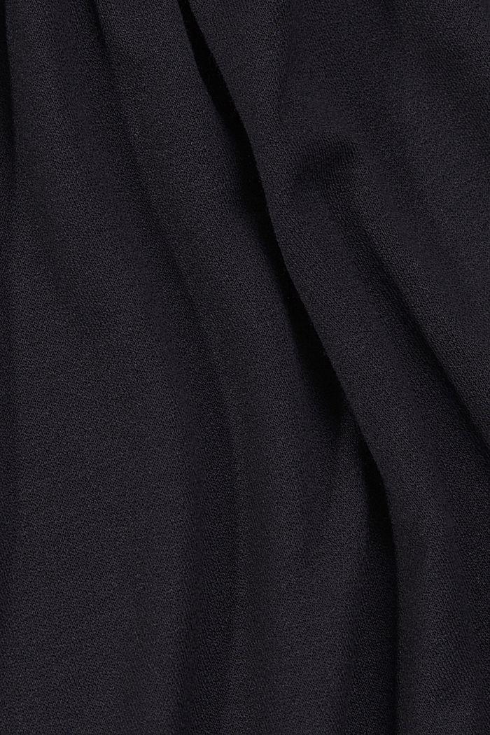 Jersey dress made of LENZING™ ECOVERO™, BLACK, detail image number 4