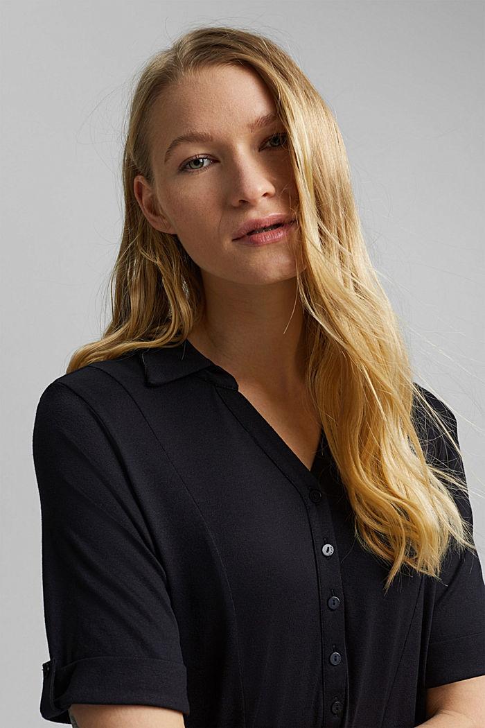 Jersey dress made of LENZING™ ECOVERO™, BLACK, detail image number 5