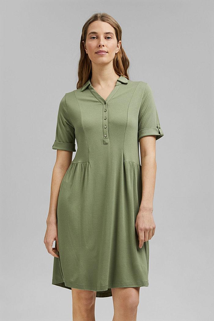 Jersey-Kleid aus LENZING™ ECOVERO™, LIGHT KHAKI, detail image number 0