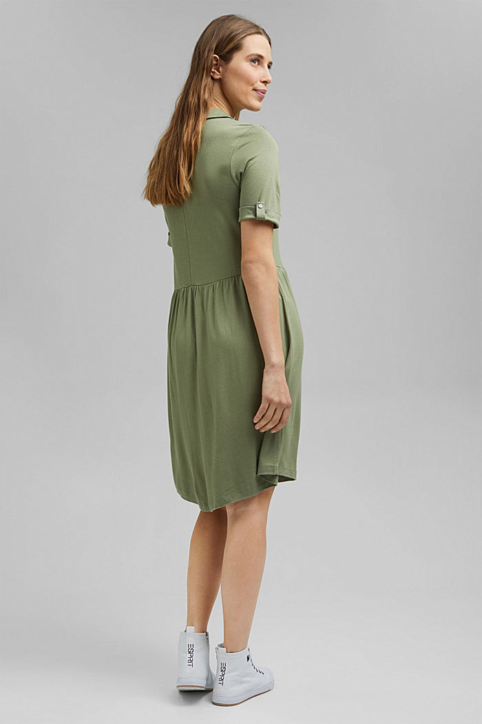 Jersey dress made of LENZING™ ECOVERO™, LIGHT KHAKI, detail image number 2