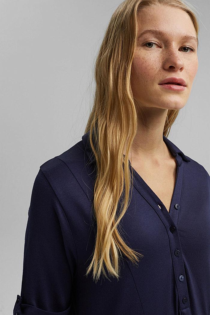 Jersey jurk van LENZING™ ECOVERO™, NAVY, detail image number 5