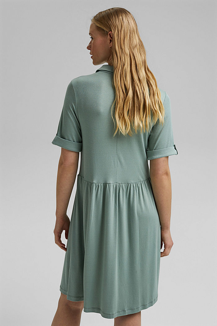 Jersey-Kleid aus LENZING™ ECOVERO™, TURQUOISE, detail image number 2