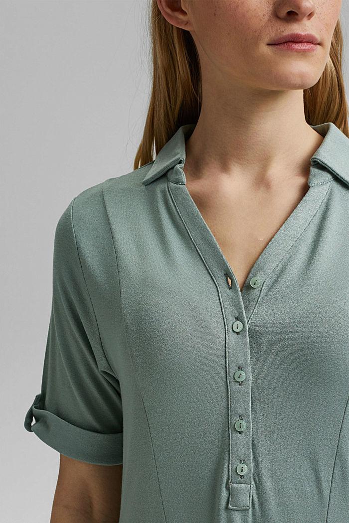 Jerseykjole af LENZING™ ECOVERO™, TURQUOISE, detail image number 3