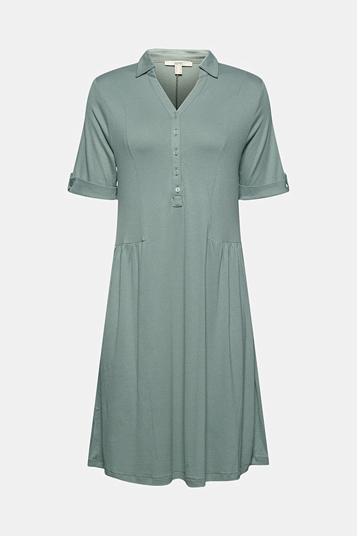 Jersey-Kleid aus LENZING™ ECOVERO™, TURQUOISE, detail image number 5