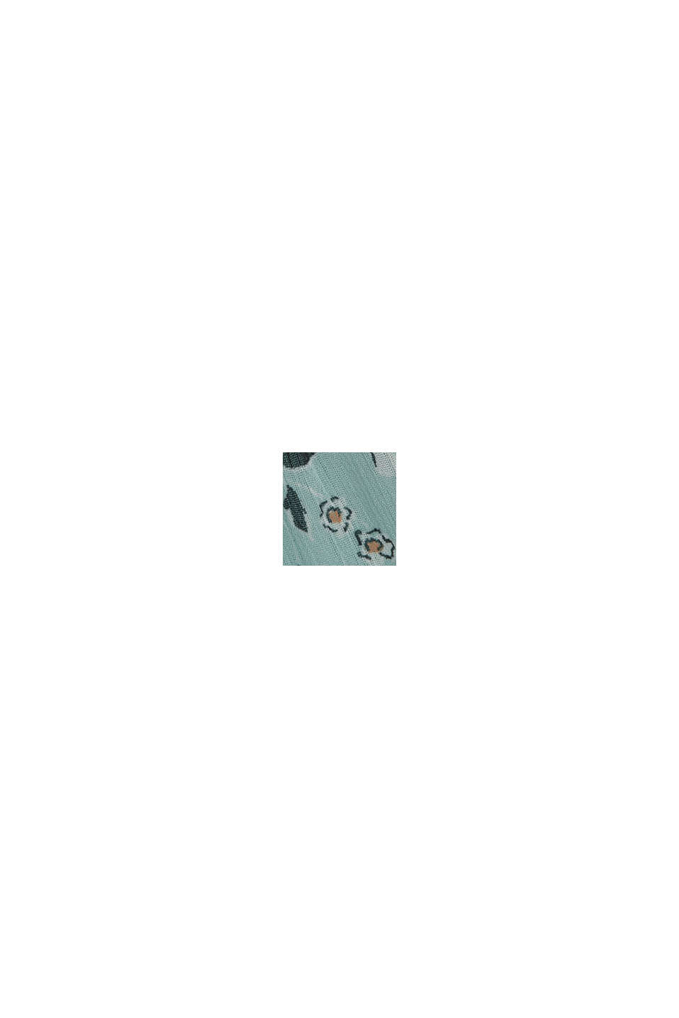 Recycelt: Maxikleid aus Crinkle-Chiffon, TURQUOISE, swatch