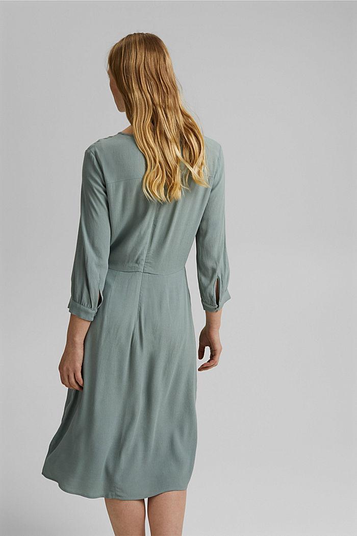 Crêpe midi dress containing LENZING™ ECOVERO™, TURQUOISE, detail image number 2