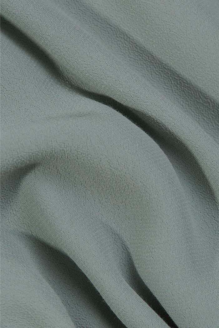 Crêpe midi dress containing LENZING™ ECOVERO™, TURQUOISE, detail image number 4