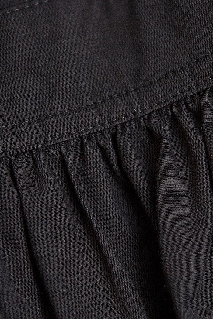 Midi-Kleid aus Popeline, BLACK, detail image number 4