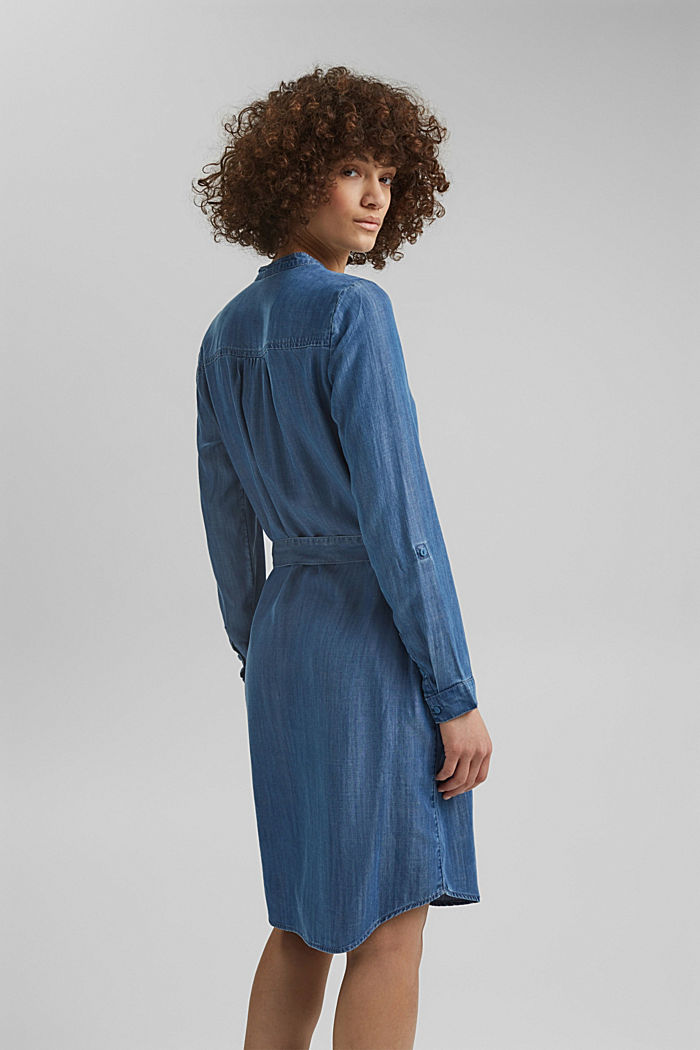 Aus TENCEL™: Kleid im Denim-Look, BLUE MEDIUM WASHED, detail image number 2