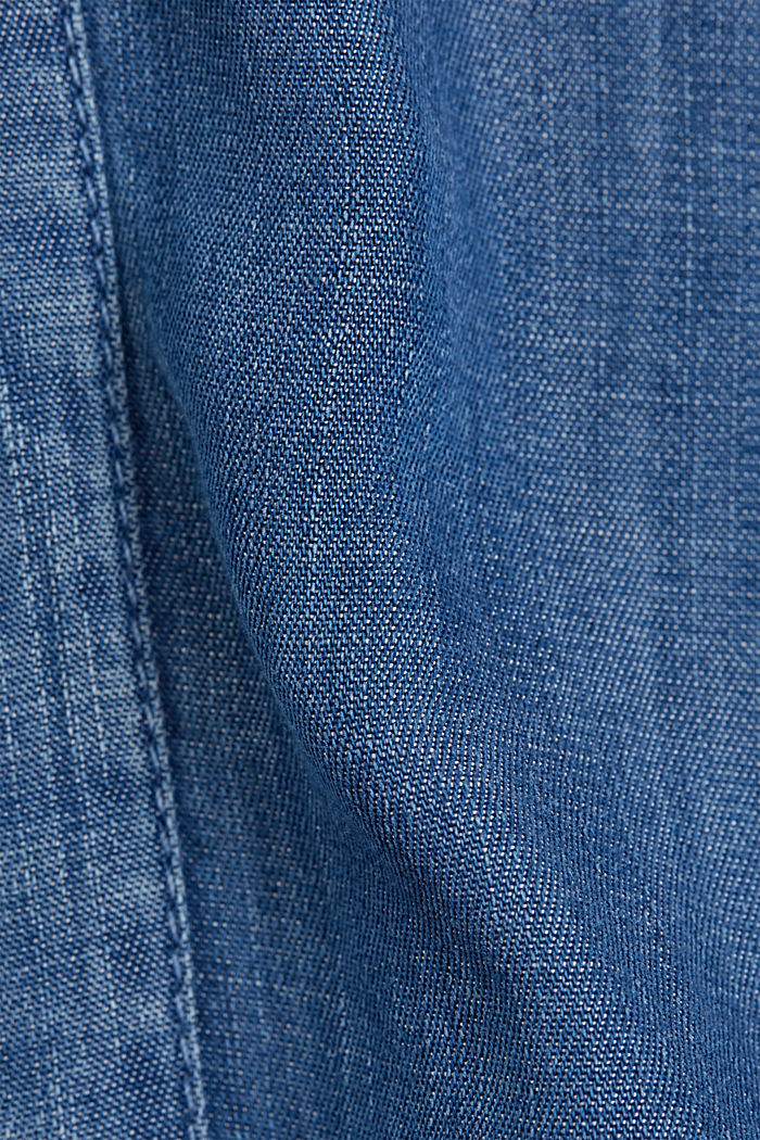 Aus TENCEL™: Kleid im Denim-Look, BLUE MEDIUM WASHED, detail image number 4