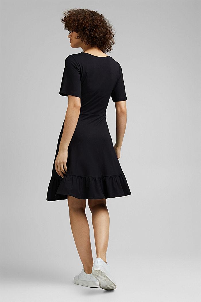 Jersey jurk van LENZING™ ECOVERO™, BLACK, detail image number 2