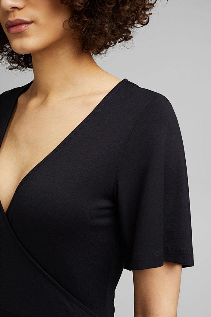 Jersey jurk van LENZING™ ECOVERO™, BLACK, detail image number 3