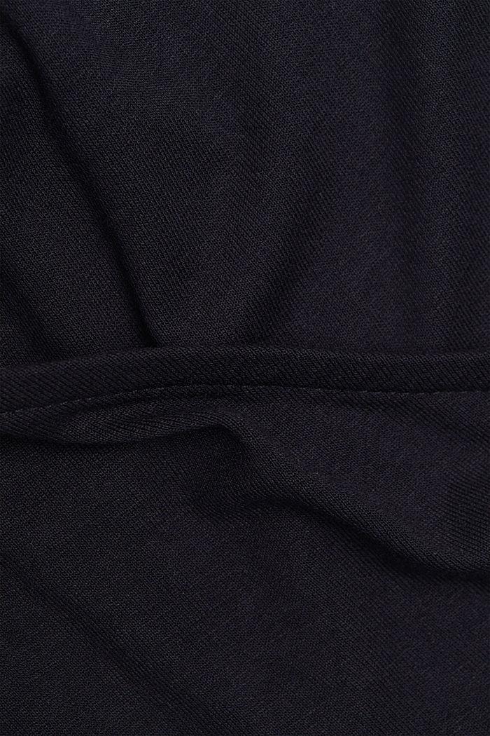 Jersey jurk van LENZING™ ECOVERO™, BLACK, detail image number 4
