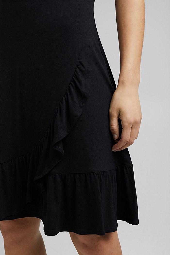 Jersey jurk van LENZING™ ECOVERO™, BLACK, detail image number 6