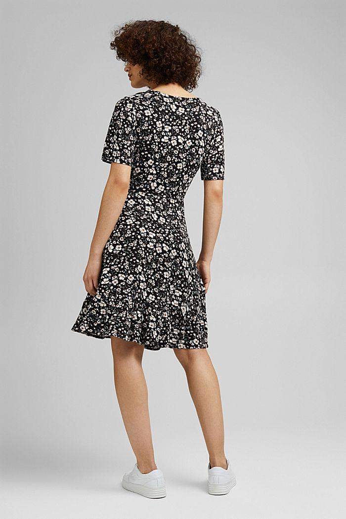Mille-fleurs dress made of LENZING™ ECOVERO™, BLACK, detail image number 2