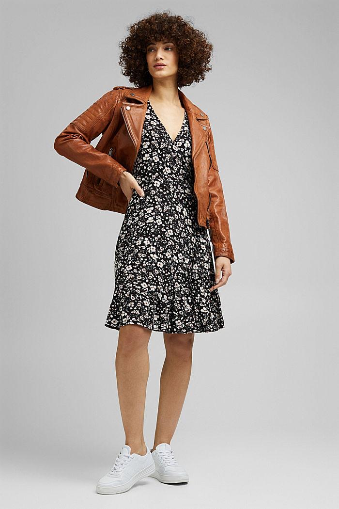 Millefleurs-Kleid aus LENZING™ ECOVERO™, BLACK, detail image number 1