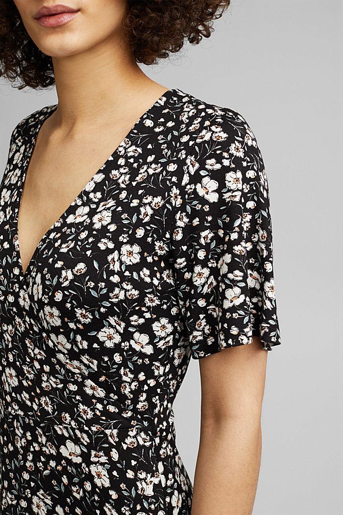Millefleurs-Kleid aus LENZING™ ECOVERO™, BLACK, detail image number 3