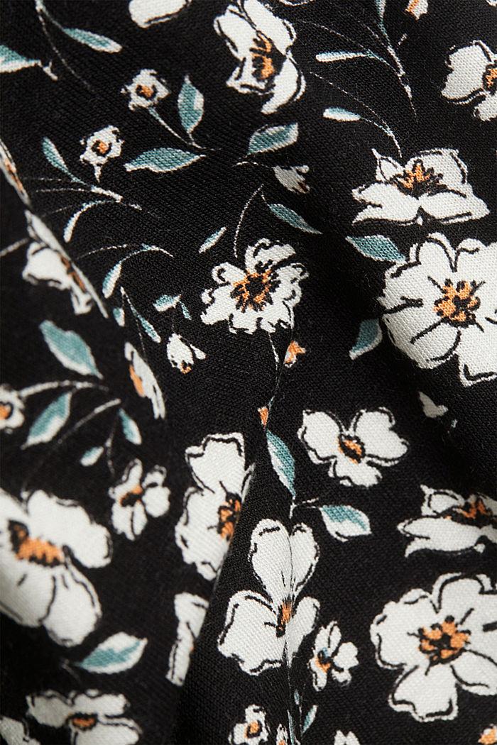Millefleurs-Kleid aus LENZING™ ECOVERO™, BLACK, detail image number 4