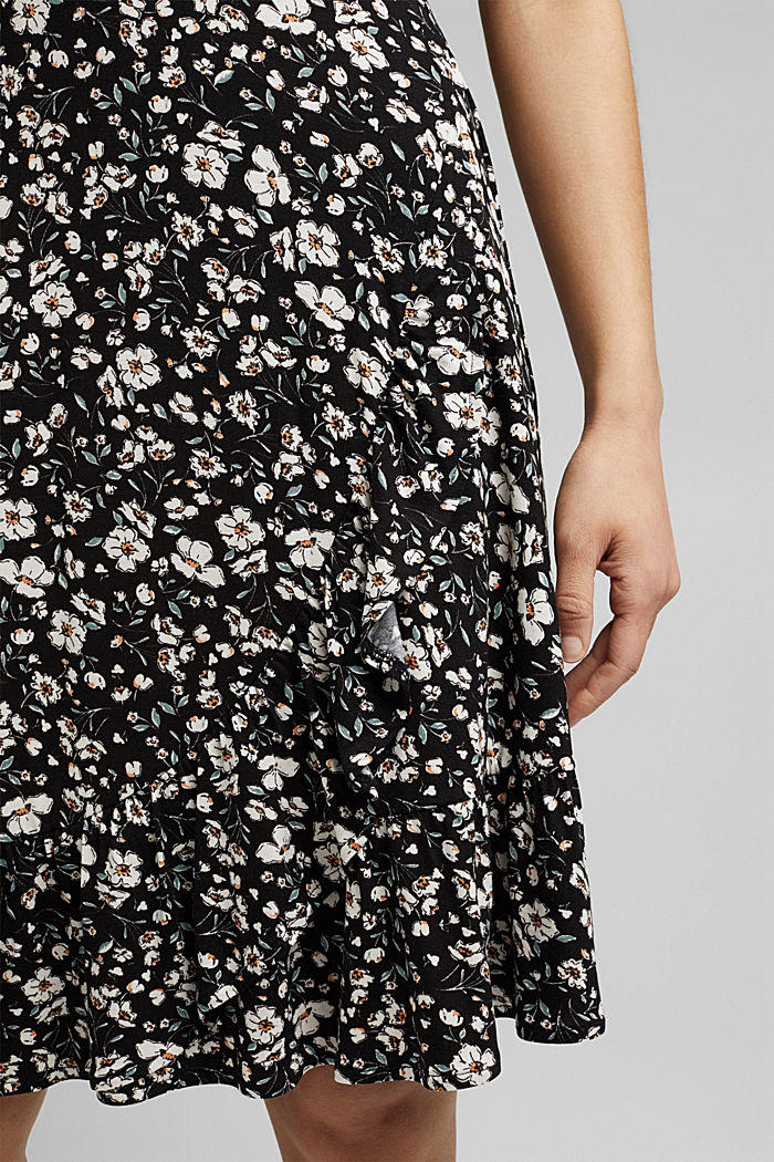 Mille-fleurs dress made of LENZING™ ECOVERO™, BLACK, detail image number 6