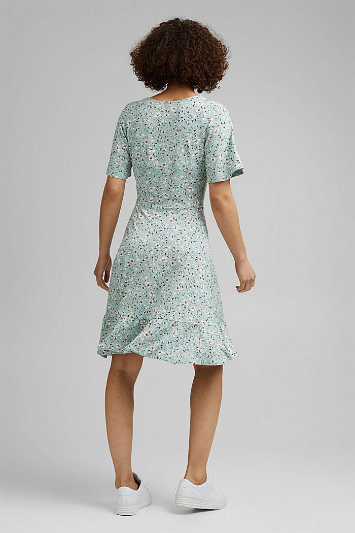Millefleurs-Kleid aus LENZING™ ECOVERO™, LIGHT AQUA GREEN, detail image number 2