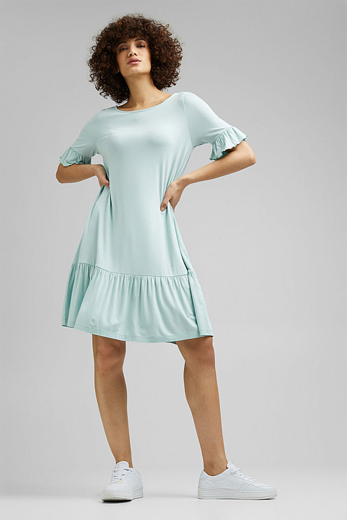 Jersey dress made of LENZING™ ECOVERO™, LIGHT AQUA GREEN, detail image number 1