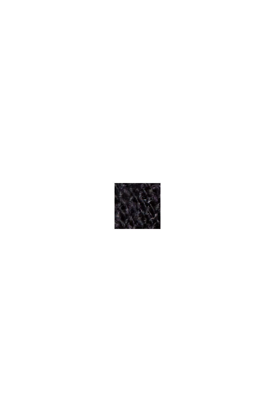 Mit Leinen: Hemdblusen-Kleid mit Gürtel, BLACK, swatch