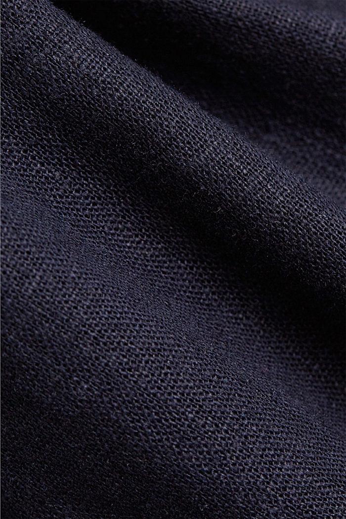 Met linnen: overhemdjurk met ceintuur, NAVY, detail image number 4