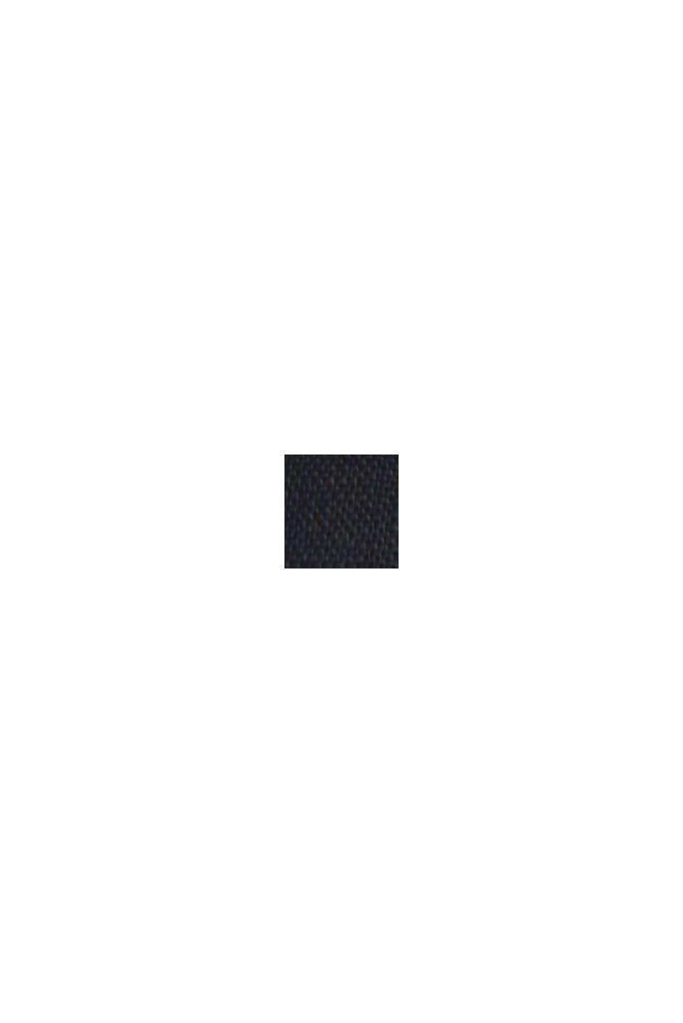 In 100% lino: abito con cintura da annodare, BLACK, swatch