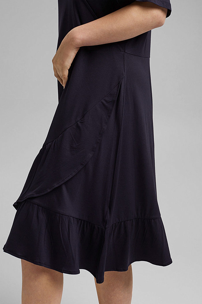 CURVY jersey dress, LENZING™ ECOVERO™, NAVY, detail image number 3