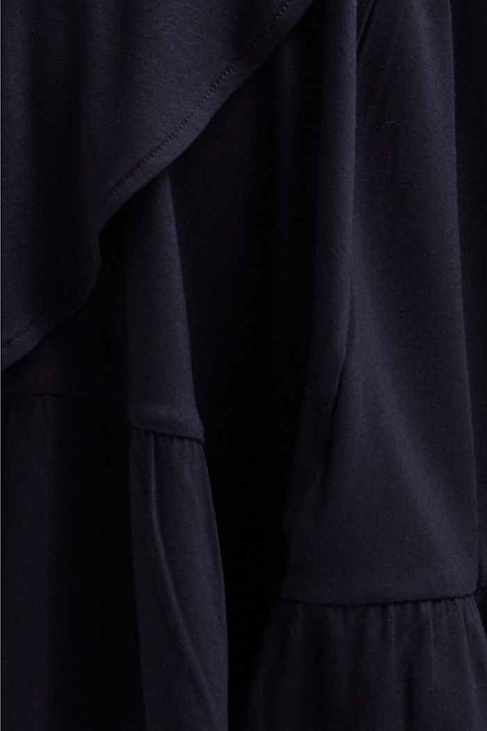 CURVY jersey dress, LENZING™ ECOVERO™, NAVY, detail image number 5