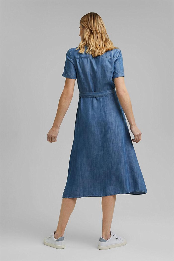 En TENCEL™: vestido midi con acabado vaquero, BLUE MEDIUM WASHED, detail image number 2