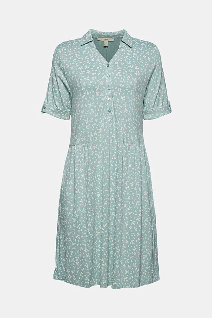 Jersey dress made of LENZING™ ECOVERO™, LIGHT AQUA GREEN, detail image number 5