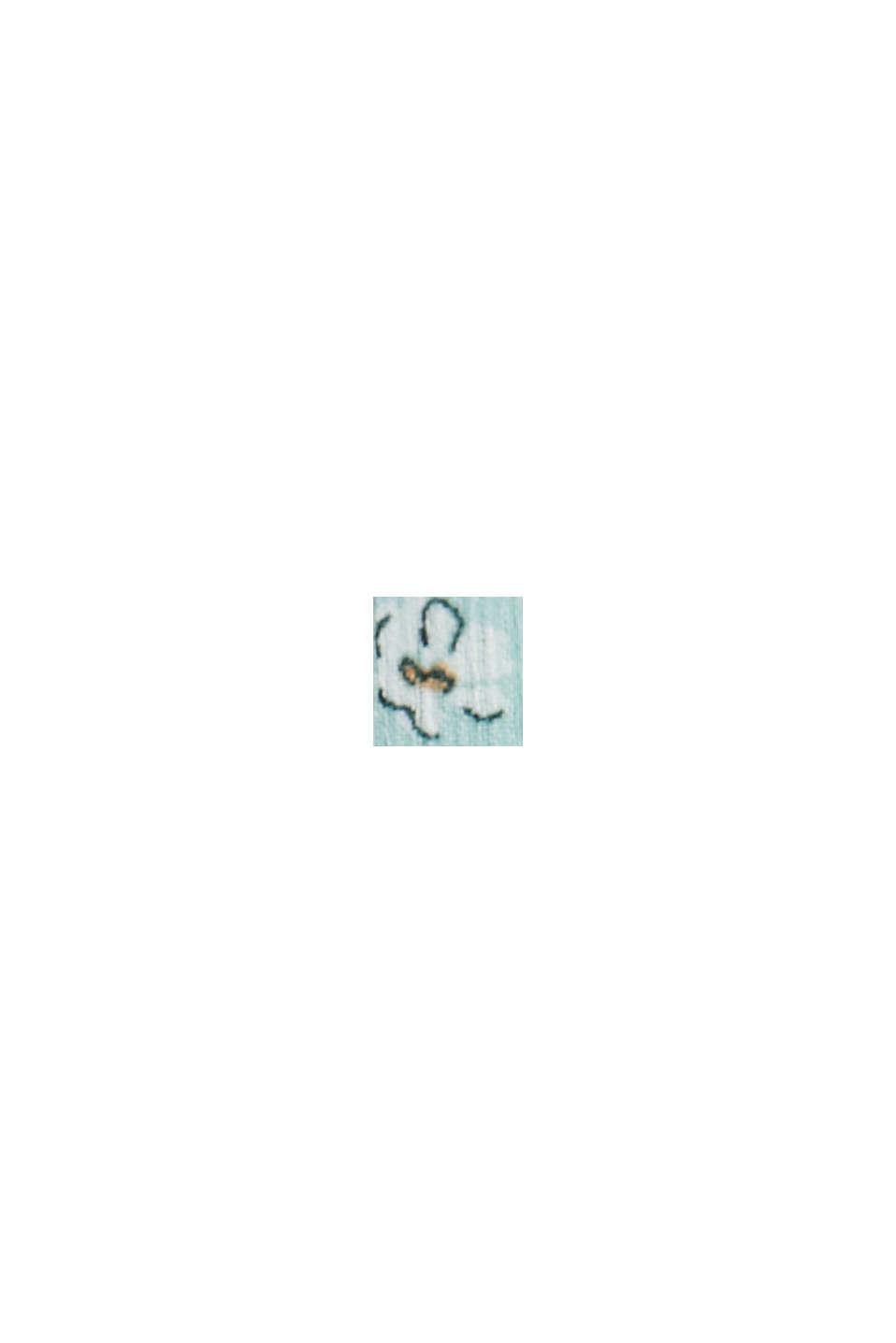 CURVY Recycelt: abito maxi in chiffon stropicciato, TURQUOISE, swatch