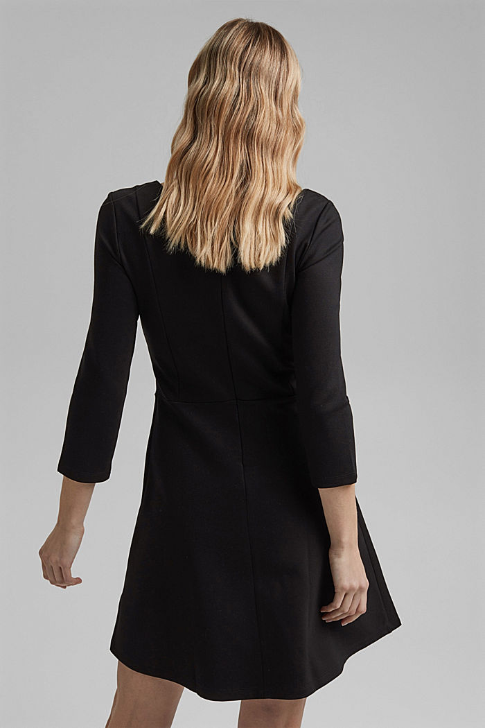 Dress in compact stretch jersey, BLACK, detail image number 2