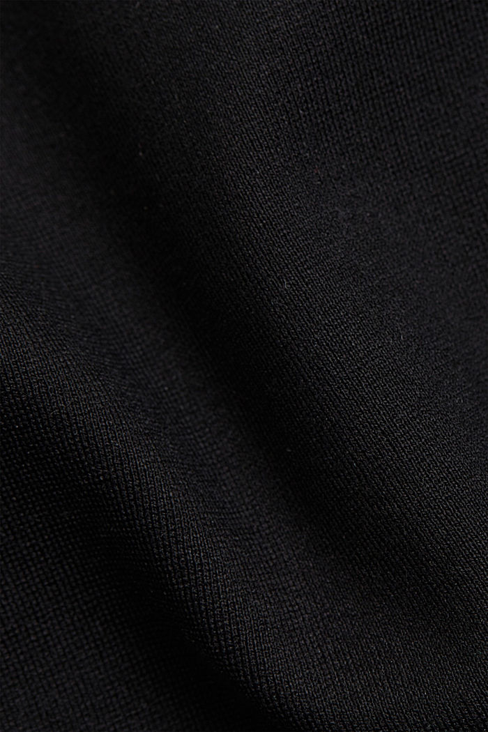 Dress in compact stretch jersey, BLACK, detail image number 4