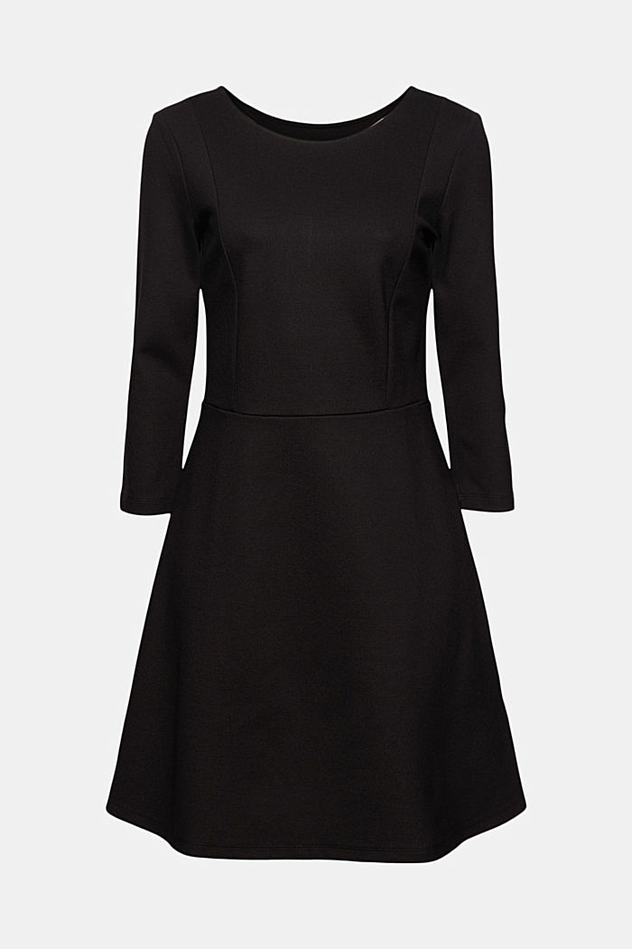 Dress in compact stretch jersey, BLACK, detail image number 7