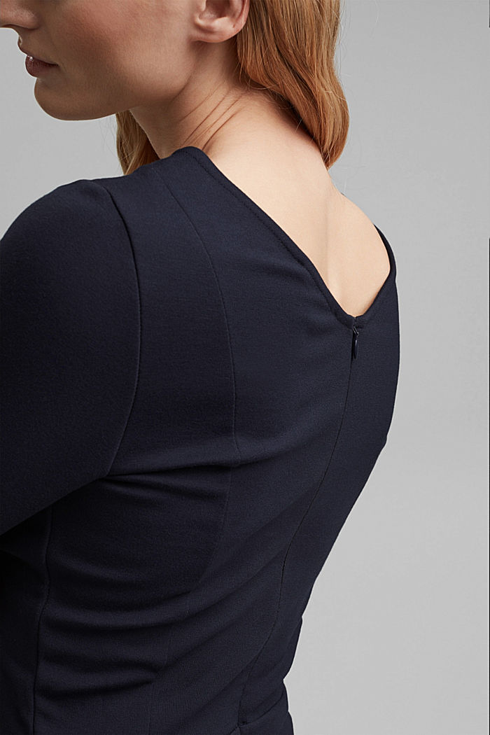 Dress in compact stretch jersey, NAVY, detail image number 5