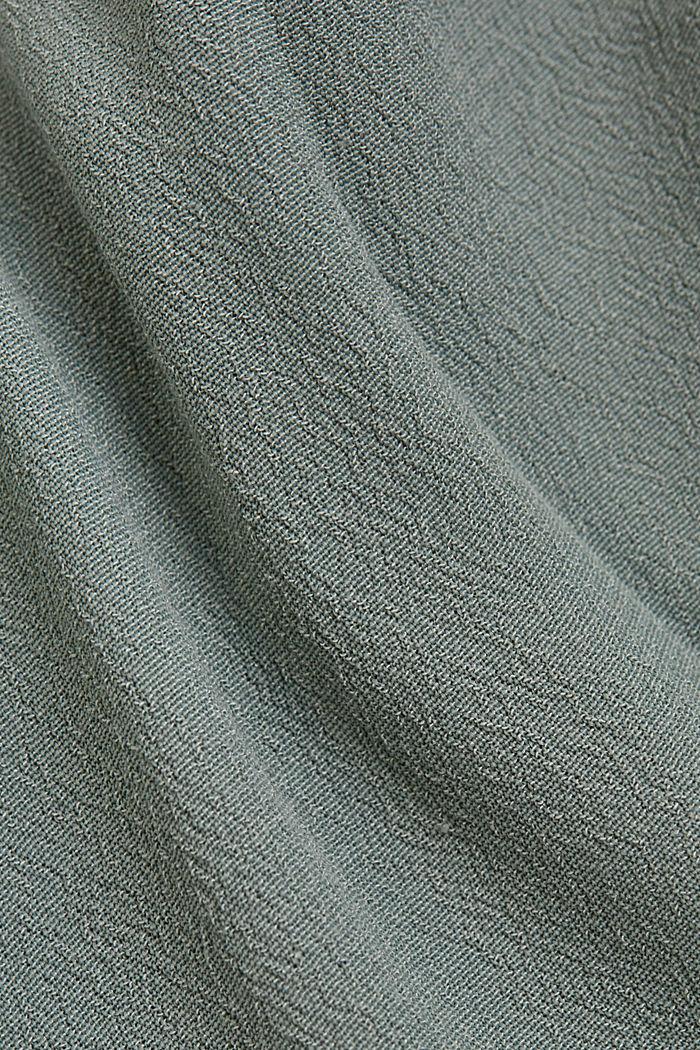 Top met knoopsluiting van LENZING™ ECOVERO™, TURQUOISE, detail image number 4
