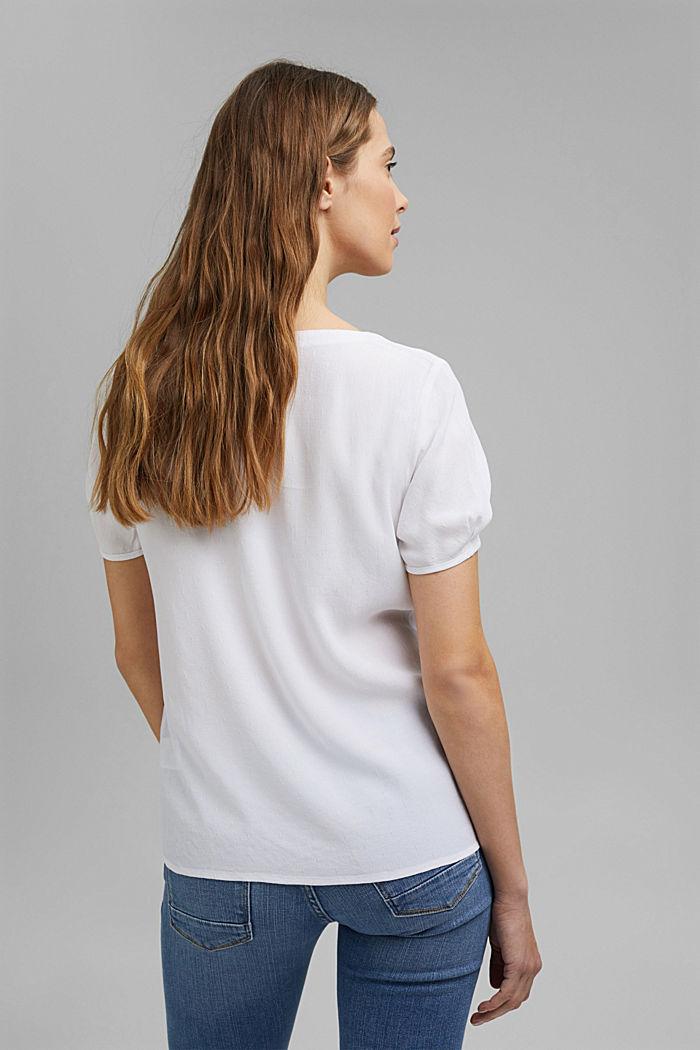 Bluzkowy top o delikatnej fakturze, WHITE, detail image number 3