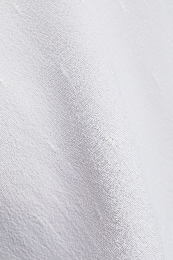 Bluzkowy top o delikatnej fakturze, WHITE, detail image number 4