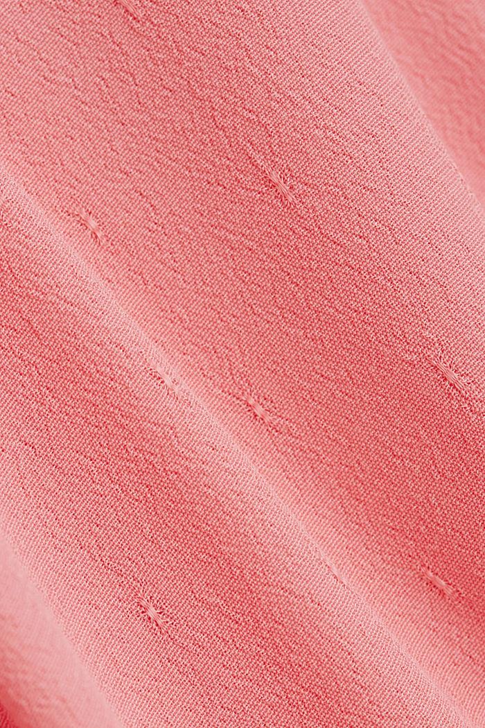 Blusentop mit feiner Struktur, PINK, detail image number 4