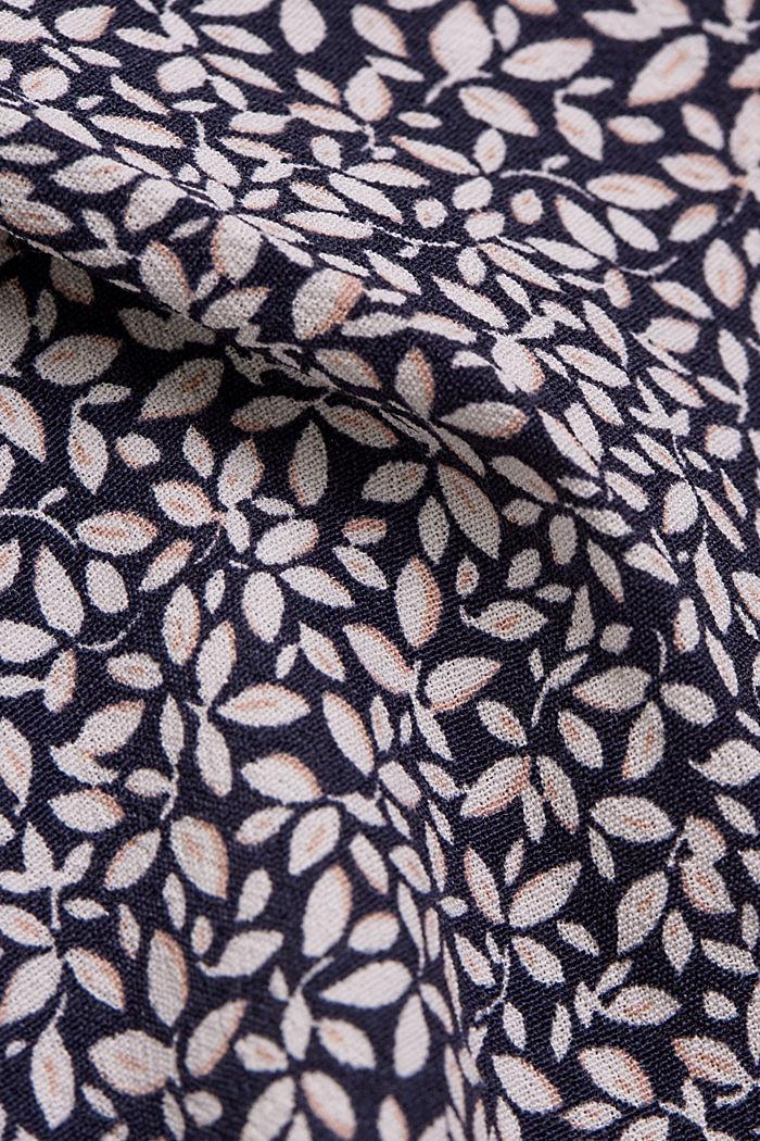 Fließendes Blusentop mit floralem Print, NAVY, detail image number 4
