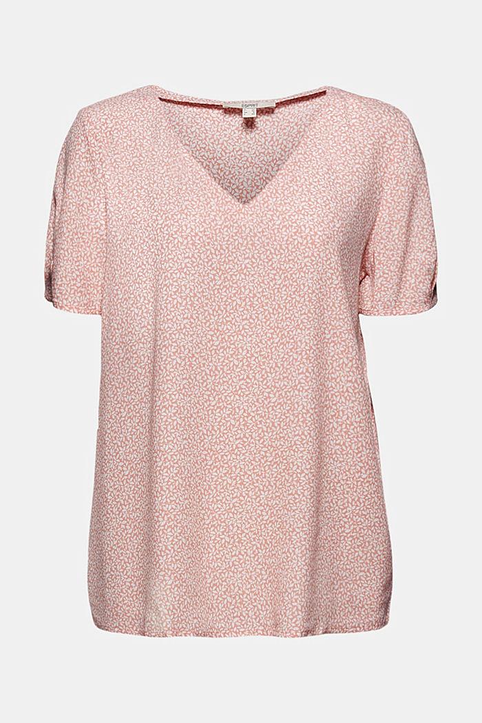 Soepele blousetop met bloemenprint