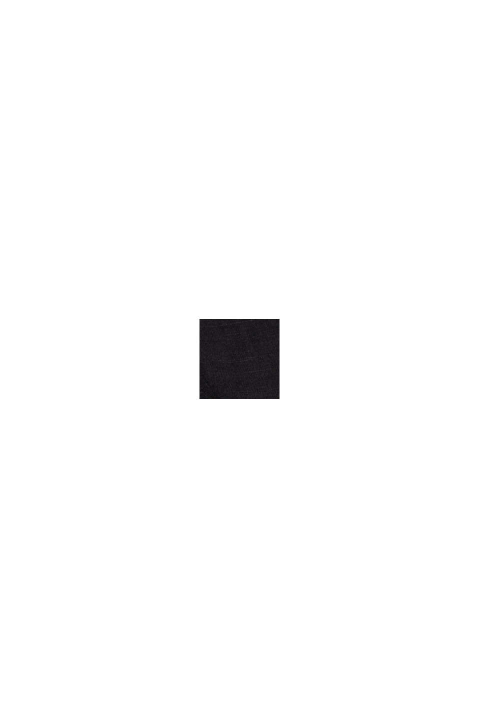 Blended linen: tunic blouse, BLACK, swatch
